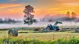 Farmer Working At Sunrise P1220629-35