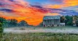 Barn At Sunrise P1230259-61
