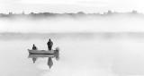 Sunday Sunrise Fishing P1230955BW