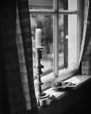 Candle in the Window BW