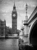 England Big Ben & Bridge BW