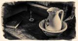 Old Log House Pitcher & Wash Basin P1270044-50 Aged