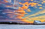 Snowy Barn At Sunrise DSCN18207-9