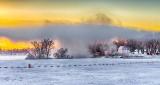Mist Over Edmonds At Sunrise DSCN18440-2