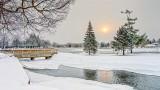 Sun Shining Through Snow Clouds DSCN18491-93