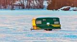 Ice Fishing Trailer At Sunrise DSCN18539