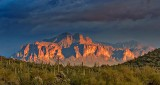 Superstition Mountain In Late Light 81431
