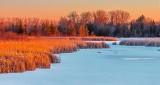 Frozen Otter Creek At Sunrise DSCN19853-5