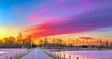 Roses Bridge At Sunrise P1300992-4