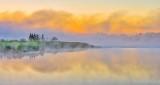 Misty Otter Creek At Sunrise DSCN25809
