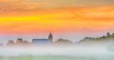 Church In Misty Clouded Sunrise DSCN26943-5