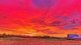 Field & Barn Under Red Sky DSCN28411-6