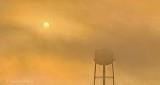 Fogged Sun & Water Tower P1320493-9