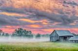 Ground Fog Beyond Barn P1330143-5