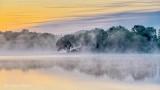 Misty Otter Creek At Sunrise P1330197-9