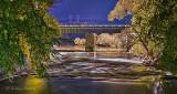 Railroad Bridge At Night P1340936-42