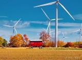Farm Wagon & Wind Turbines P1010151