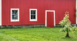 Red Barn With White Trim P1010255