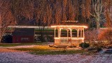 Passing Train  Beyond Holiday Gazebo P1360319-25