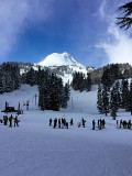 A beautiful day for skiing