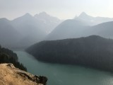 A bit smoky at the Diablo Lake Vista Point