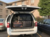 Next morning - Loaded everything inside the SUV