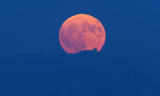 The Harvest moon rising over Lick Observatories