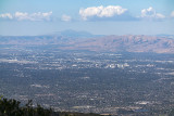 A view of Mount Diablo and San Jose