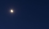 Close encounter between the Moon and Mars