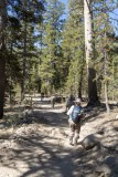 Starting our hike to Cathedral Lake at Toulomne Meadows
