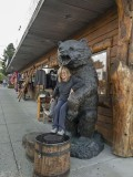 Susan's bear hug at Lee Vining