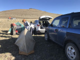 Car windbreak for the campers