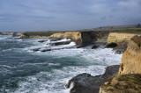 Rough waves and coastline