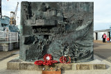 Historic Dockyard Chatham Kent Destroyer Memorial by sculptor Kenneth Potts unveiled 2007