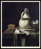 Still Life with Earthenware Jug and Clay Pipes, 1658
