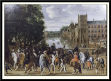 The Princes of Orange and their Families on Horseback, Riding Out from the Buitenhof, The Hague, 1621-22