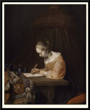 Woman Writing a Letter, 1655