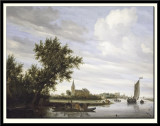 River View with Church and Ferry, 1649