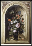 Vase of Flowers in a Stone Niche, 1615