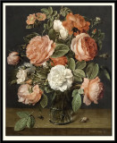 Roses in a Glass Vase, 1640-45