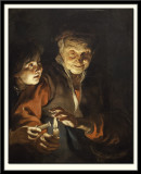 Old Woman and Boy with Candles, 1616-17