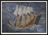 Four Nude Girls in a Boat, 1950