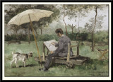 Armand Heins painting in open-air, 1881