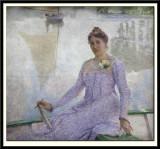 Portrait of the artist Anna De Weert, 1899