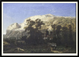 Mountainous Landscape at Marche-les-Dames,1853