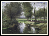Landscape by the River Lys or The Road to the 'Patiintie' in Ghent, 1863