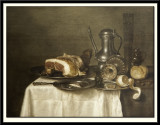 Still Life with Ham and Bread, 1643