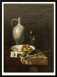 Still Life with a Pipe, Nuts, a Pitcher and a Tobacco Pouch, 1670