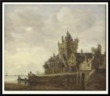 River Landscape with a Castle, 1648