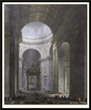 Interior of St Peter's in Rome, 1671